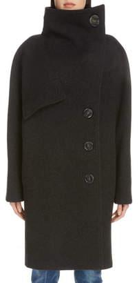 Acne Studios Ciara Boiled Wool Blend Coat