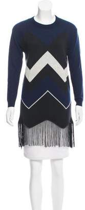 Timo Weiland Merino Wool Fringe-Trimmed Sweater