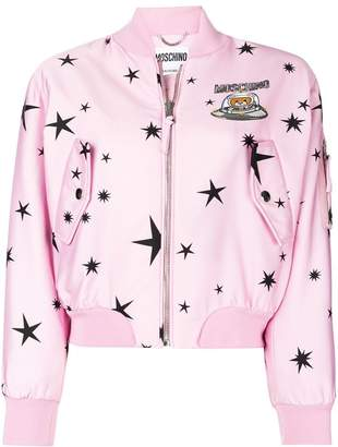 Moschino star-print bomber jacket
