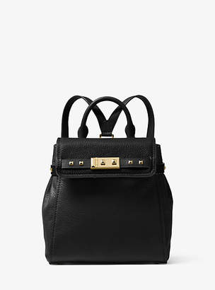 Michael Kors Addison Small Pebbled Leather Backpack