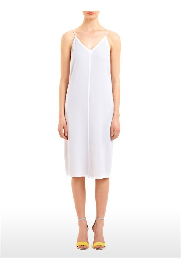 Silk Crepe De Chine & Georgette Slip Dress