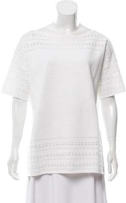 St. John Short Sleeve Bateau Neck Sweater w/ Tags