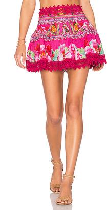 Camilla Short Frill Hem Skirt in Pink $400 thestylecure.com