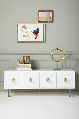 Anthropologie Lacquered Regency Media Console