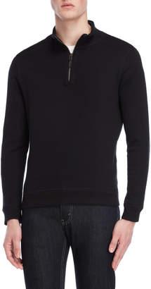 English Laundry Quarter-Zip Mock Neck Sweater