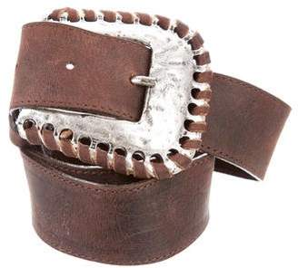 Leather Rock Distressed Leather Belt