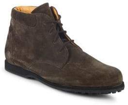 Paul Stuart Round Toe Suede Chukka Boots