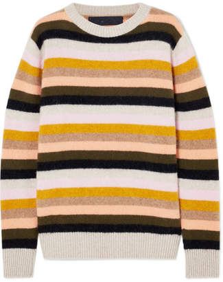The Elder Statesman Striped Cashmere Sweater - Yellow