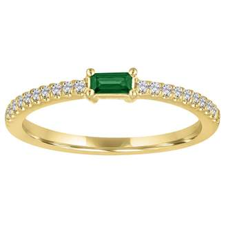 story. My Julia Emerald Ring - Yellow Gold