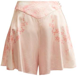 HILLIER BARTLEY Floral-print silk shorts