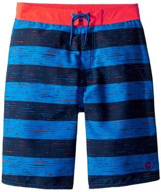 Speedo Kids Thru Way Stripe E-Boardshorts Boy's Swimwear