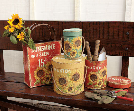 Napa Style Sunflower Bag Container