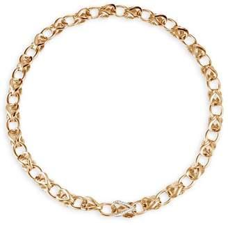 "John Hardy 18K Yellow Gold Classic Chain Pavé Diamond Link Necklace, 18"""