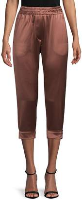 Brunello Cucinelli Women's Metallic Cropped Pants