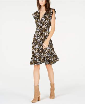 Michael Kors Flounce-Trim A-Line Dress