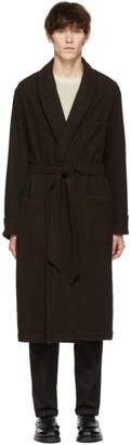 Our Legacy Brown Wool Robe Coat