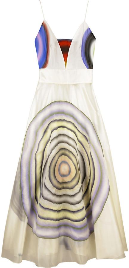 Fendi Circle pattern dress