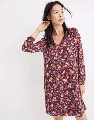 Madewell Button-Back Dress in Antique Flora