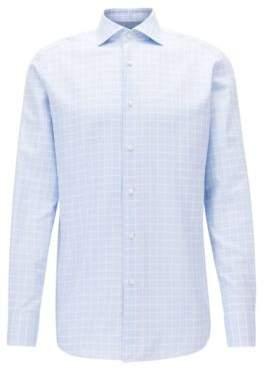 BOSS Hugo Check Cotton Dress Shirt, Regular Fit T-Stenson 18 Light Blue