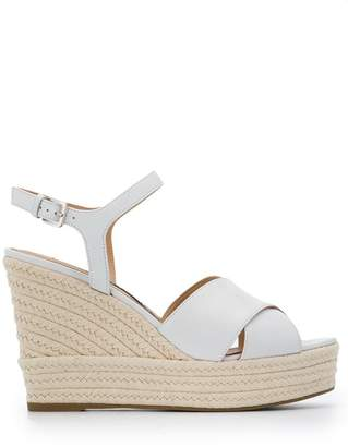 b13862b48f1ff White Leather Wedge Sandals - ShopStyle UK