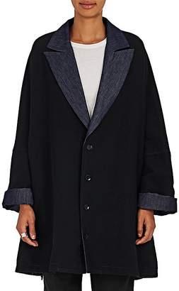 Yohji Yamamoto Women's Reversible Felt & Denim Swing Jacket $2,120 thestylecure.com