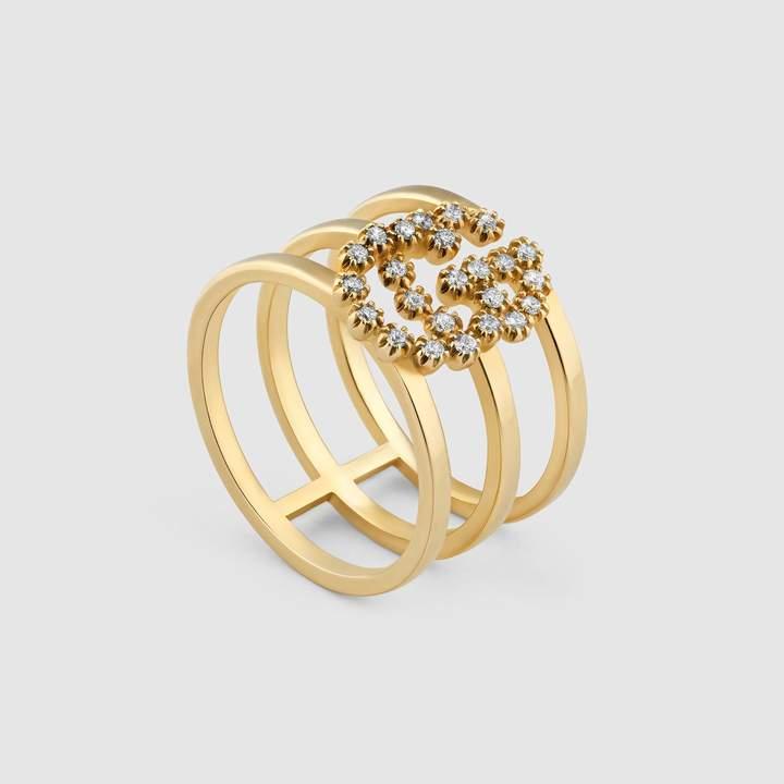 GG Running ring with diamonds
