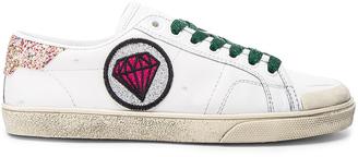 Saint Laurent Court Classic Patch Sneaker $595 thestylecure.com