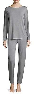 Hanro Women's Natural Elegance Long-Sleeve Pajamas