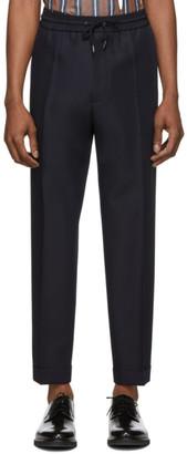 BOSS Navy Mohair Oliwer Trousers