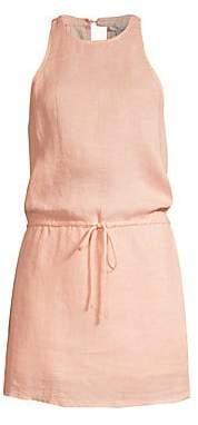 Joie Women's Diega B Print Linen Halter Mini Dress