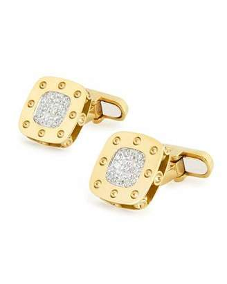 Roberto Coin Square Rock & Diamonds Cufflinks in 18K Rose Gold hHgWj6F