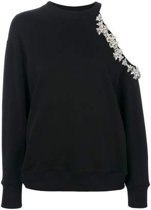 Christopher Kane crystal cut-out sweatshirt