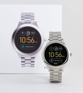Fossil Q FTW6003 Venture Bracelet Smart Watch In Silver