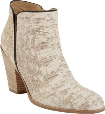 Giuseppe Zanotti Reptile-Stamped Side Zip Ankle Boots