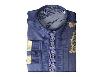 Versace Dragon Print Silk Button Down