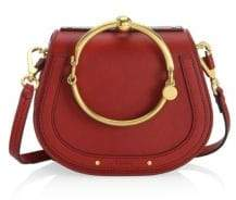 Chloé Small Nile Leather& Suede Bracelet Bag