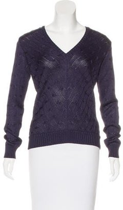 Ralph Lauren Silk V-Neck Sweater $125 thestylecure.com