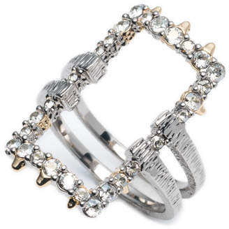 Alexis Bittar Crystal Encrusted Oversize Link Ring