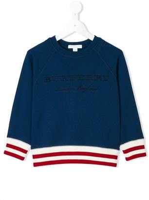 Burberry logo embroidered sweatshirt