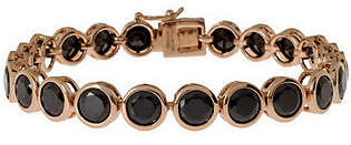 """Bronzo Italia Bronze 8"""" Faceted Crystal Tennis Bracelet by Br"""