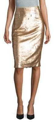 Eliza J Metallic Pencil Skirt