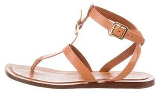 Celine Leather T-Strap Sandals