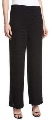 Joan Vass Rochelle Wide-Leg Pants, Black, Petite