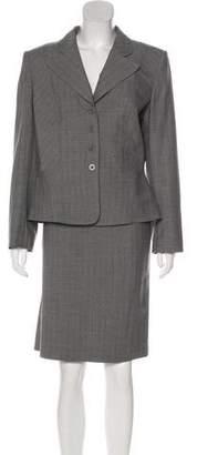 Tahari Wool Pinstripe Skirt Suit w/ Tags