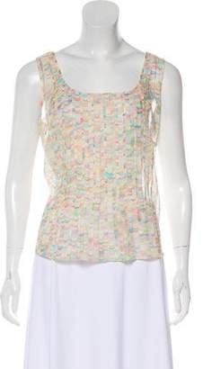 Akris Printed Sleeveless Top