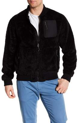 Hawke & Co Front Zip Fleece Bomber Jacket