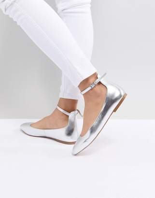 Faith Annette Metallic Ballet Flats