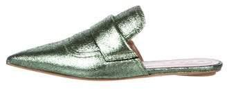 Marni Metallic Leather Mules