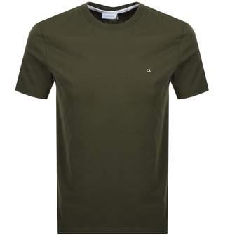 Calvin Klein Small Logo T Shirt Khaki
