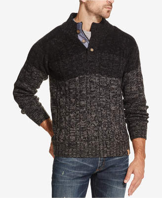 Weatherproof Vintage Men's Ombre Button Mock-Neck Sweater